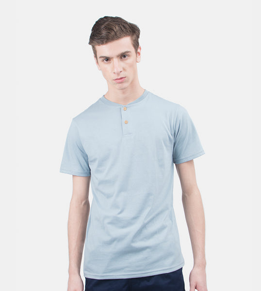 Henley Tee (Medium Gray)