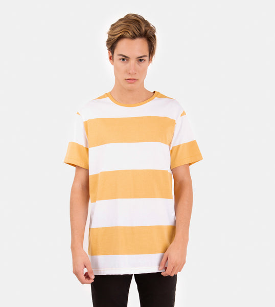 Essential Blend Blocked Tee (Mustard)