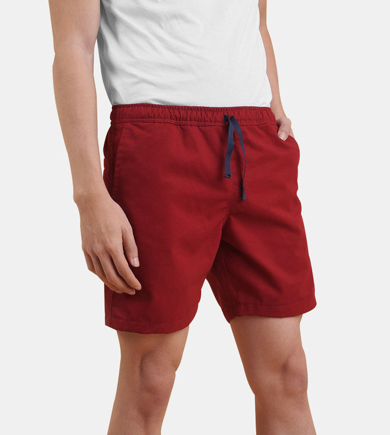 Tailored Shorts (Maroon)