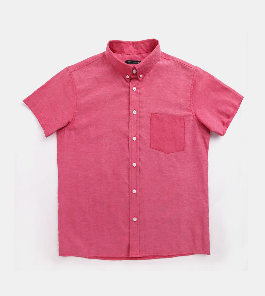 Work & Play Button Down (Maroon) - Product Shot