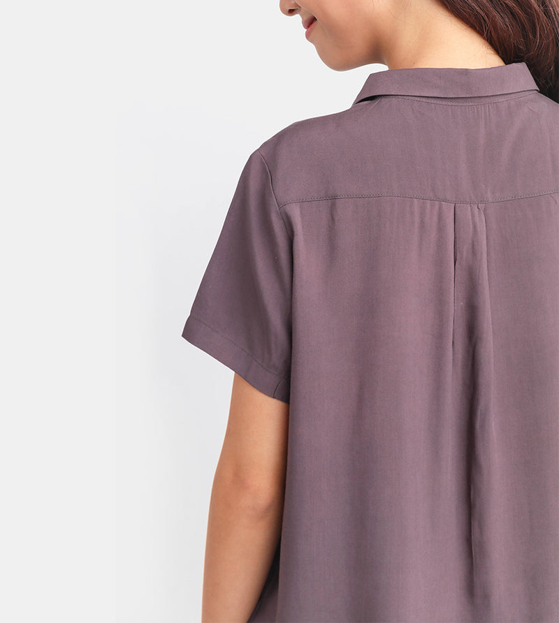 The Button-Down Smart Shirt (Mauve)