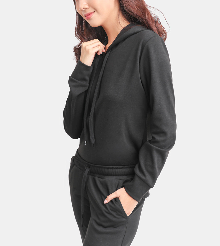 The Classic Cotton Pullover (Black)