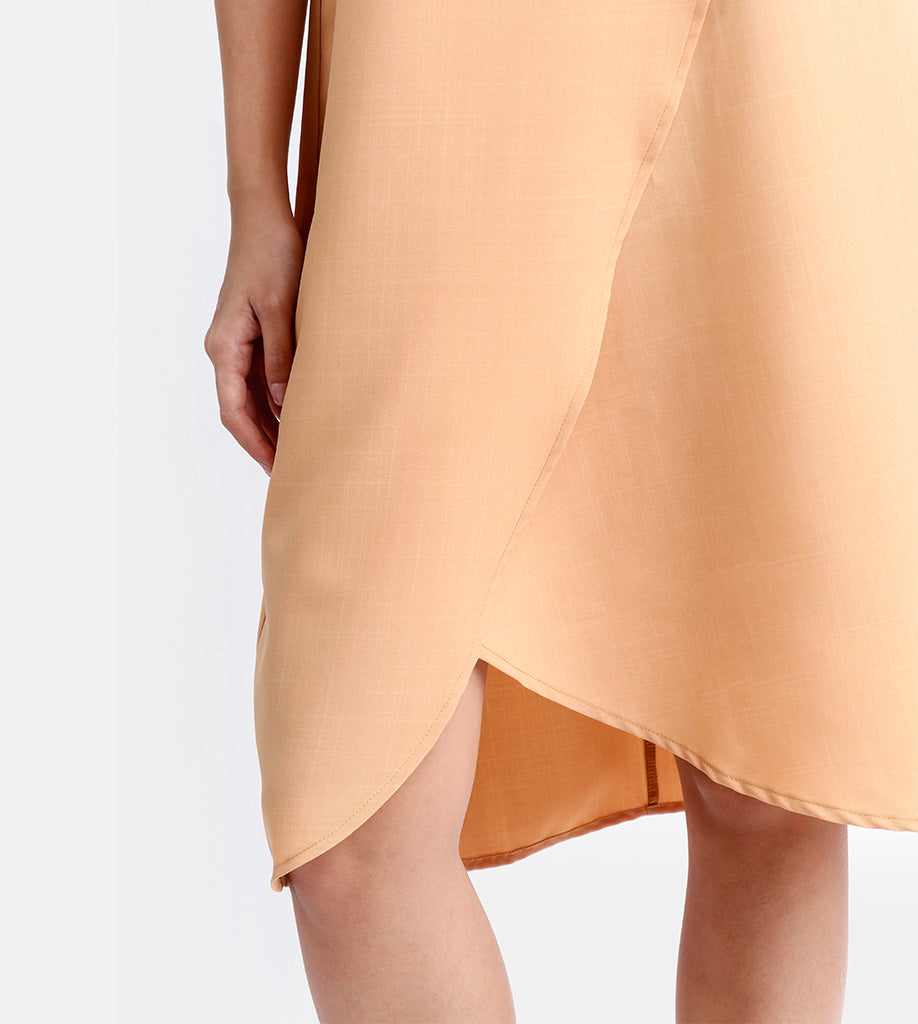 The Layered Shift Dress (Mustard)