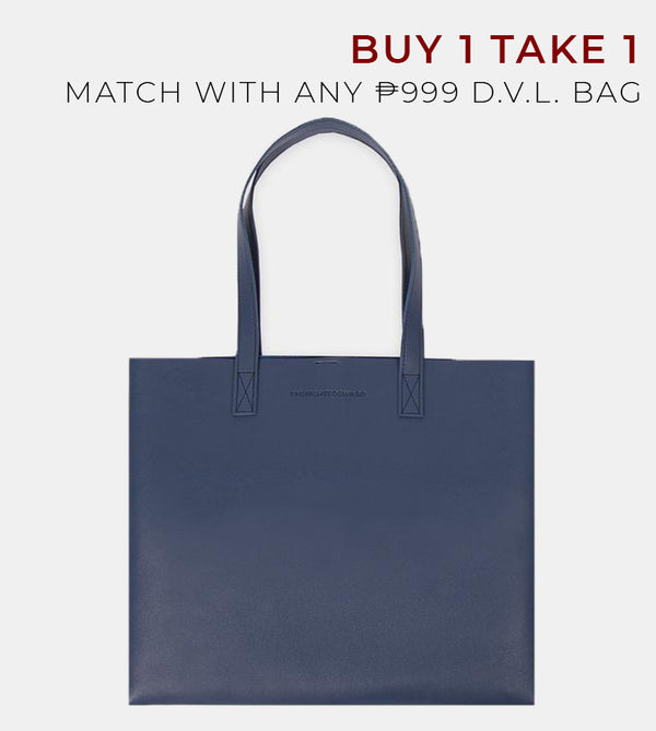 D. V. L. Landscape Tote Bag (Navy Blue)