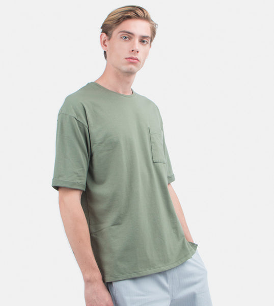 Folded Pocket Tee (Olive)