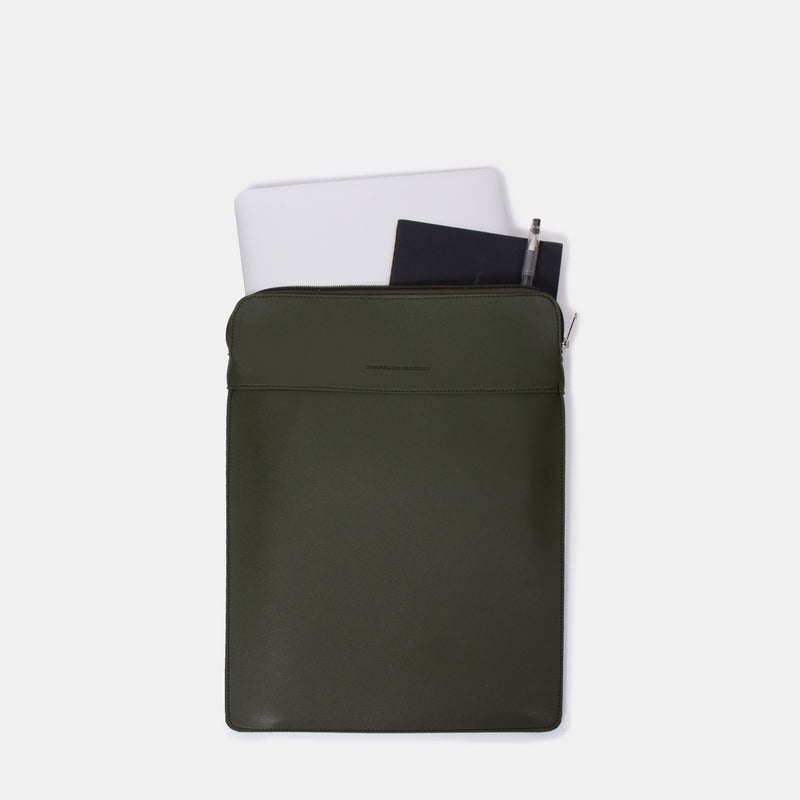 D. V. L. Portrait Laptop Case (Army Green)