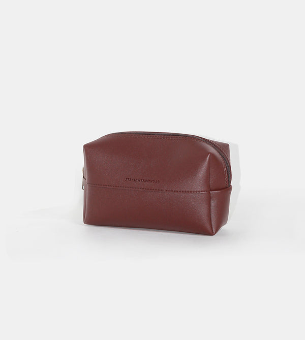 Leather Pouch (Chestnut) - Diagonal