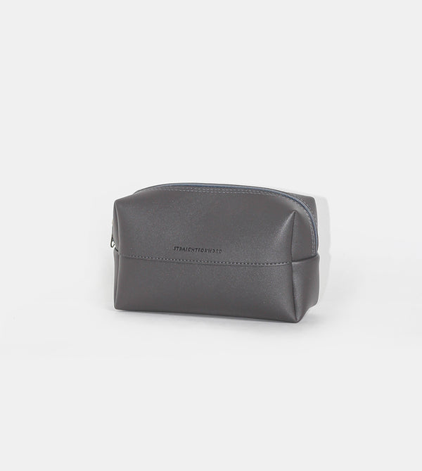 Leather Pouch (Dark Gray) - Diagonal