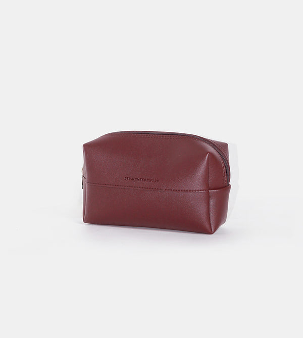 Leather Pouch (Wine) - Diagonal