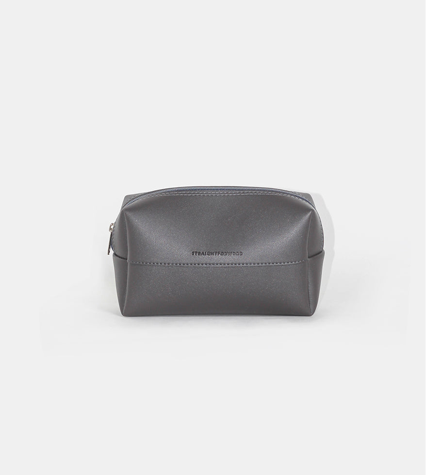Leather Pouch (Dark Gray) - Product Shot
