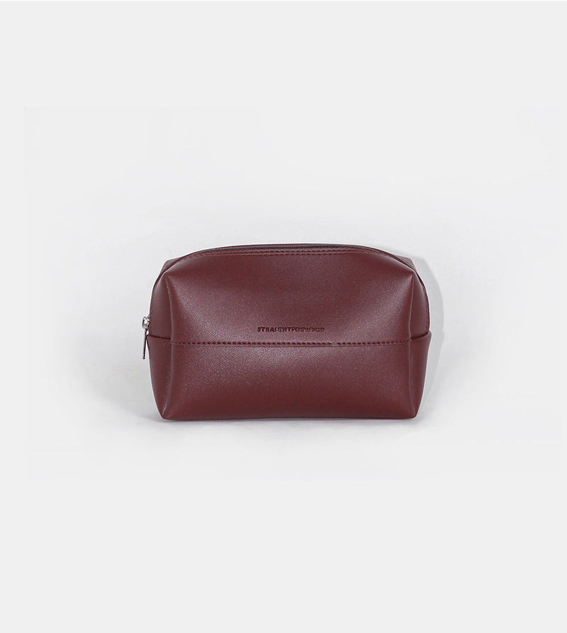 Leather Pouch (Wine) - Product Shot