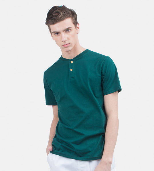 Henley Tee (Rich Green)