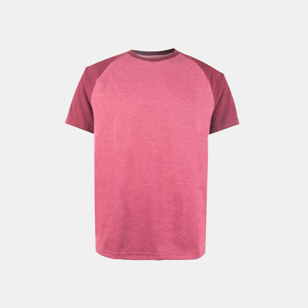 UltraSoft Short Sleeve Raglan (Heather Maroon)