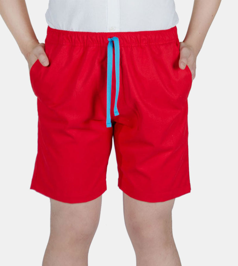Tailored Shorts (Red) - Front