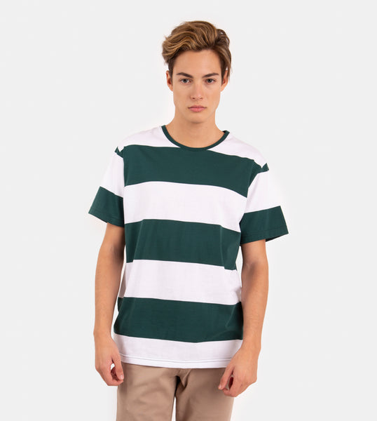 Essential Blend Blocked Tee (Rich Green)