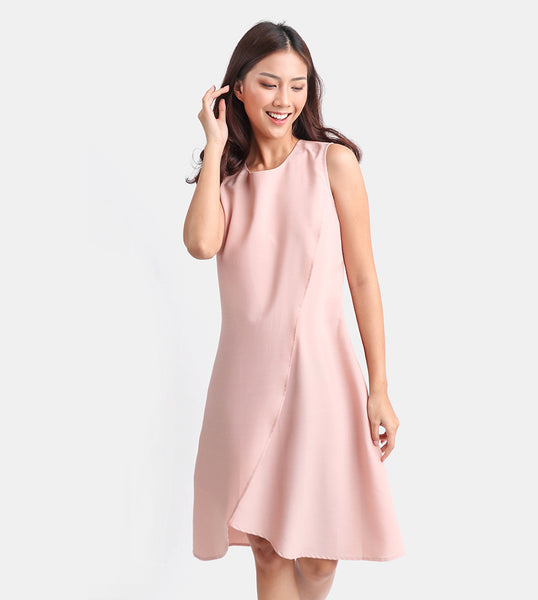 The Layered Shift Dress (Rose)