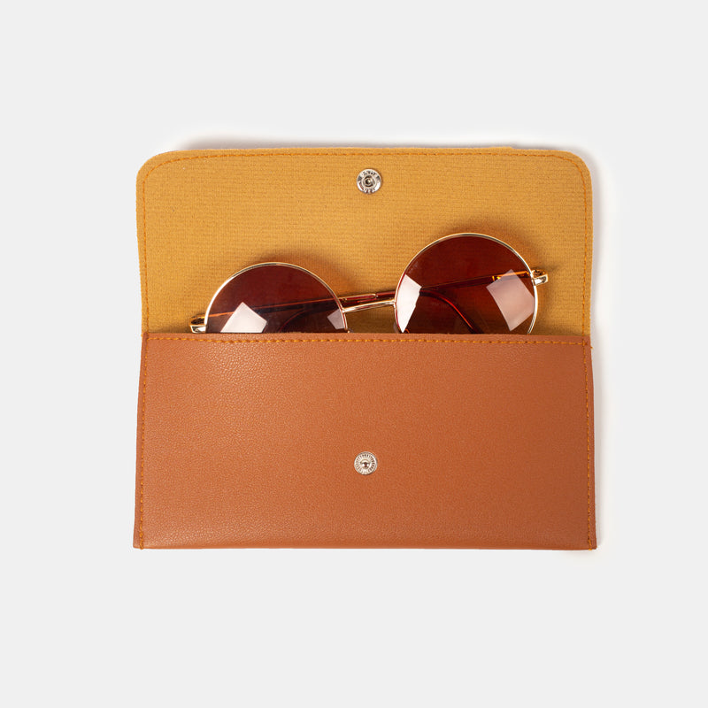 D. V. L. Sunglasses Case (Tan)