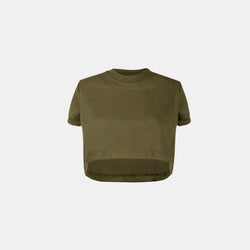 Women's UltraSoft Boxy Tee (Army Green)