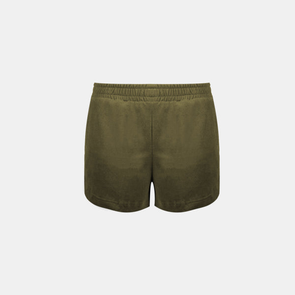 Women's UltraSoft Dolphin Shorts (Army Green)
