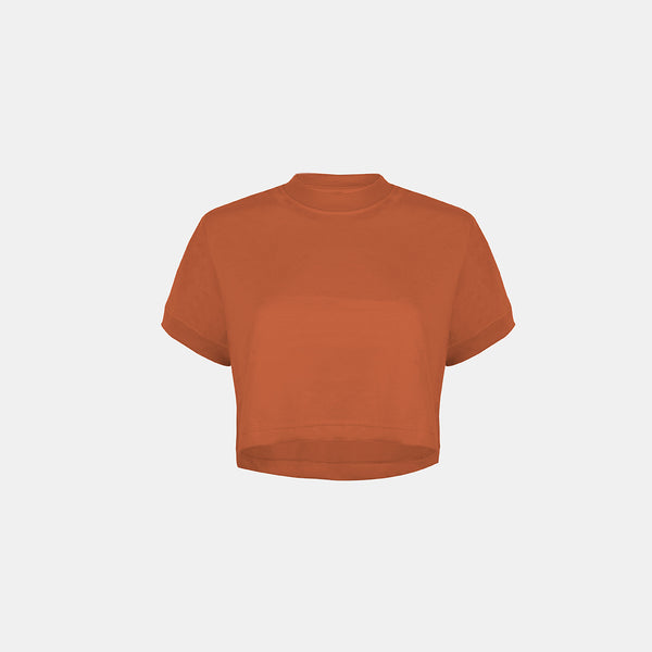 Women's UltraSoft Boxy Tee (Rust)