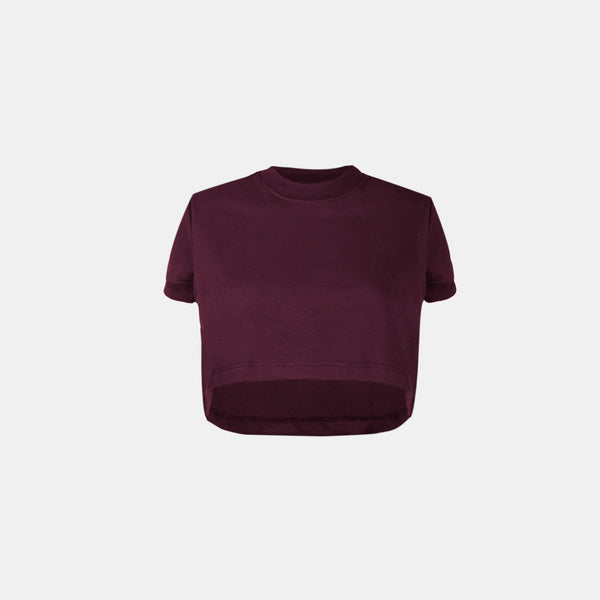 Women's UltraSoft Boxy Tee (Wine)