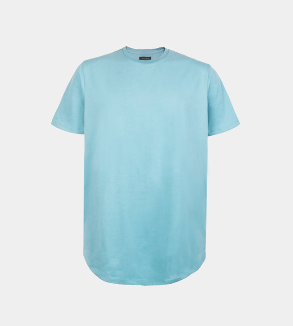 Ultra Soft Blend Long Tee (Aqua Blue)