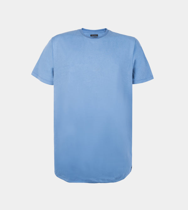 Ultra Soft Blend Long Tee (Blue Stone)