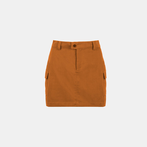Everyday Twill Stamp Skirt (Gold Rust)
