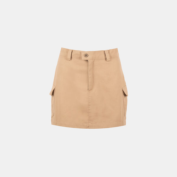 Everyday Twill Stamp Skirt (Beige)