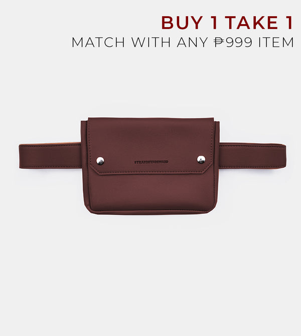 D. V. L. Clutch Belt Bag (Chestnut)