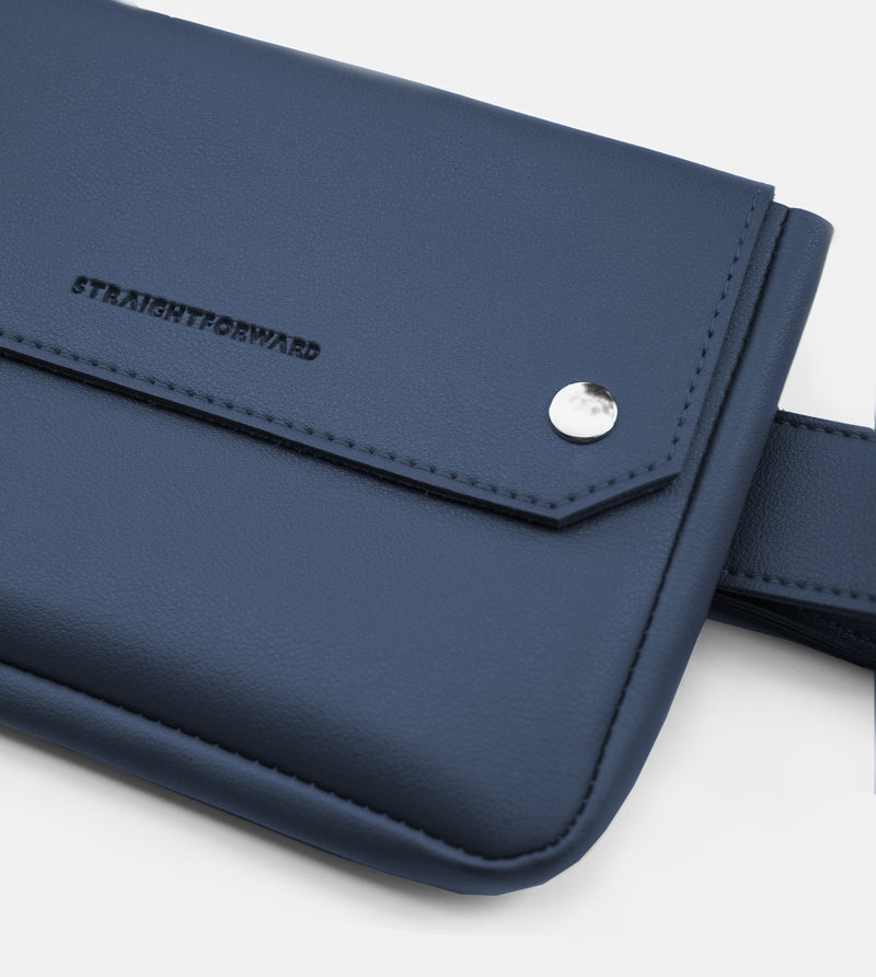 D. V. L. Clutch Belt Bag (Navy Blue)