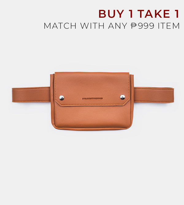 D. V. L. Clutch Belt Bag (Tan)