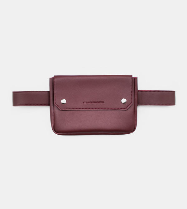 D. V. L. Clutch Belt Bag (Wine)