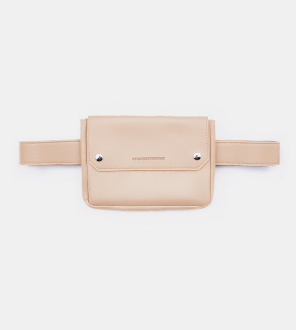 D. V. L. Clutch Belt Bag (Beige)
