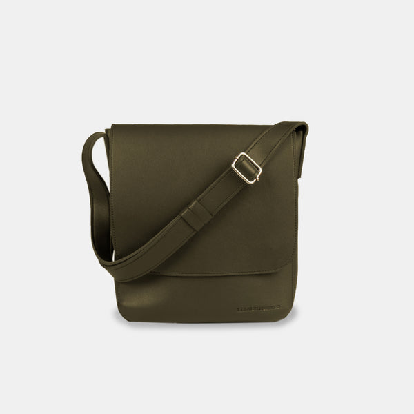 D.V.L. Minimalist Flap Sling Bag (Army Green)