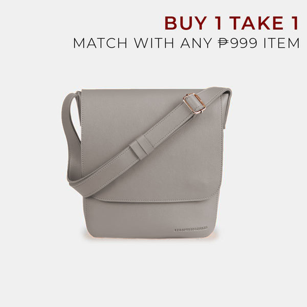 D.V.L. Minimalist Flap Sling Bag (Cool Gray)