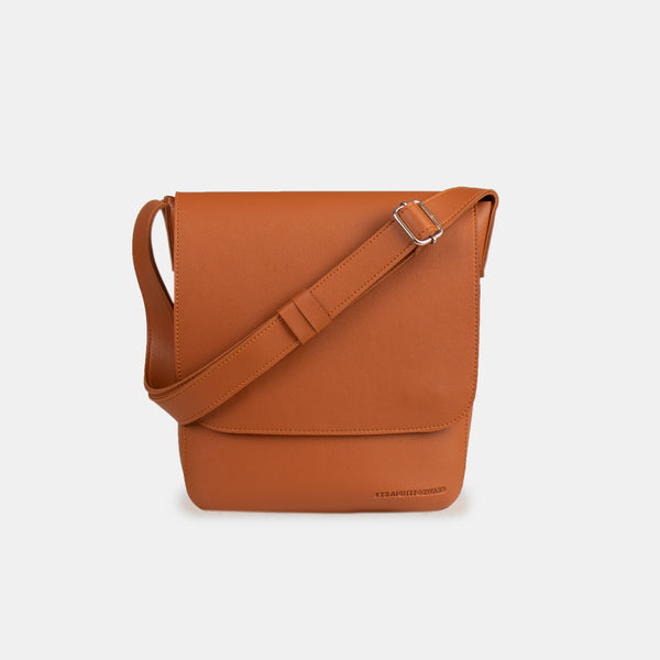 D.V.L. Minimalist Flap Sling Bag (Tan)