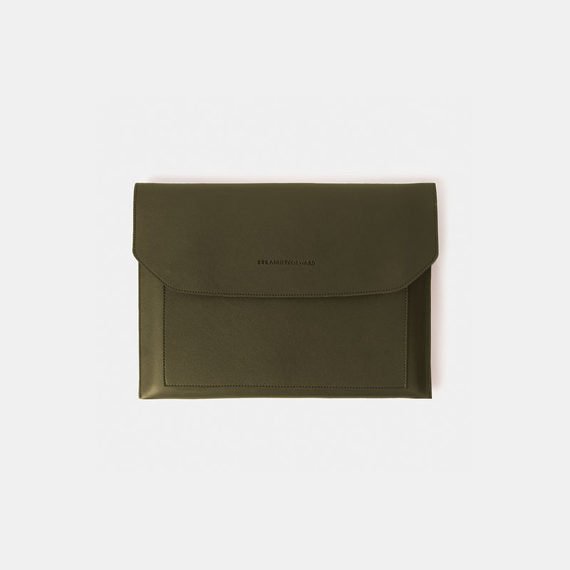 D.V.L. Multi-pocket Laptop Sleeve (Army Green)