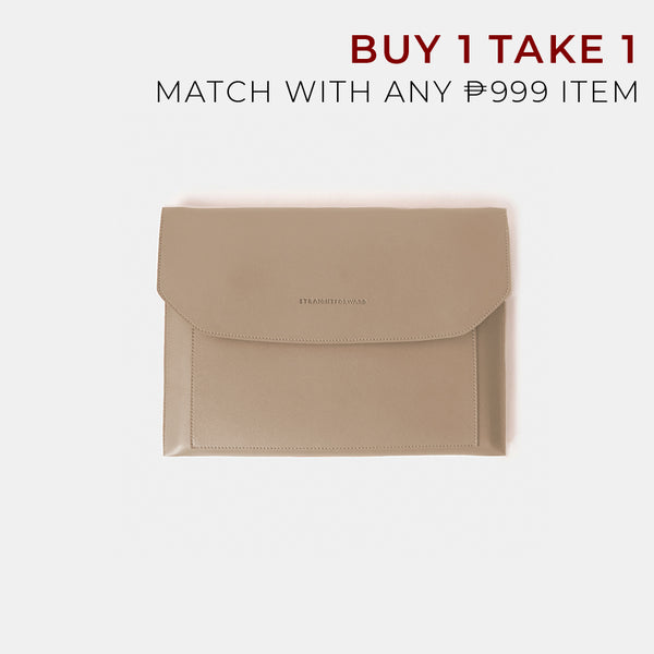 D.V.L. Multi-pocket Laptop Sleeve (Beige)