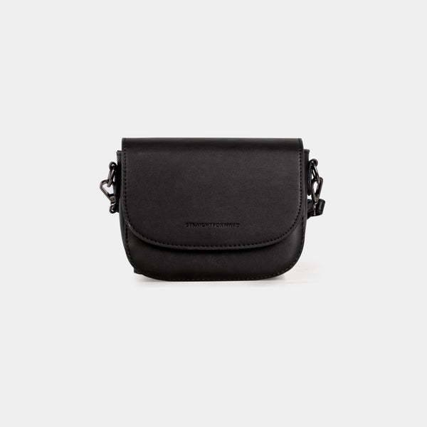 D.V.L. Mini Flap Sling Bag (Black)