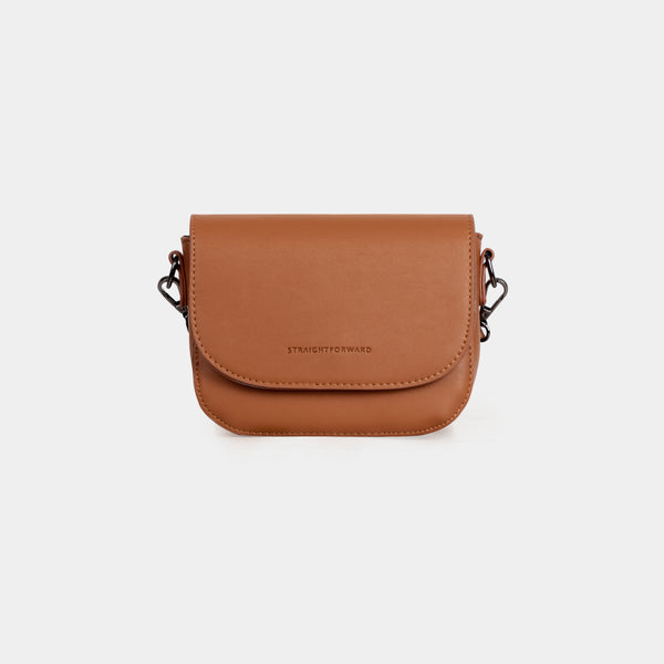 D.V.L. Mini Flap Sling Bag (Tan)