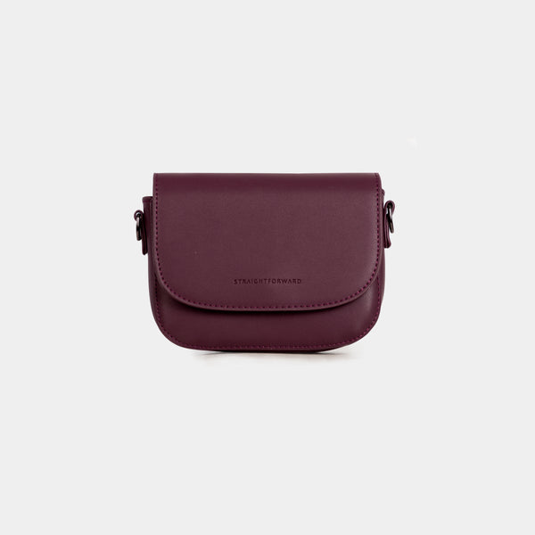 D.V.L. Mini Flap Sling Bag (Wine)