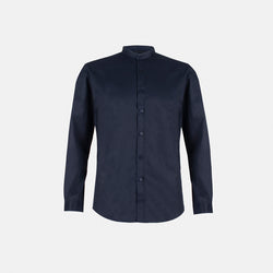 Everyday Cotton Blend Button Down (Navy Blue)