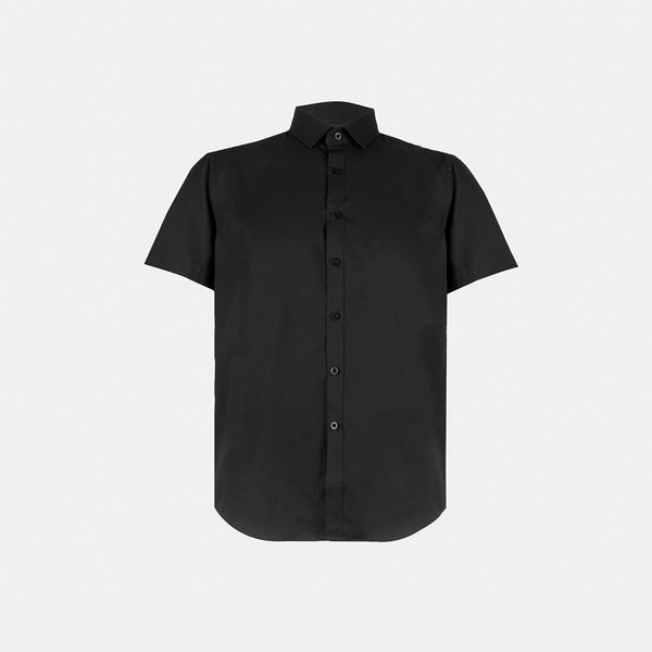 Everyday Cotton Blend Shirt (Black)