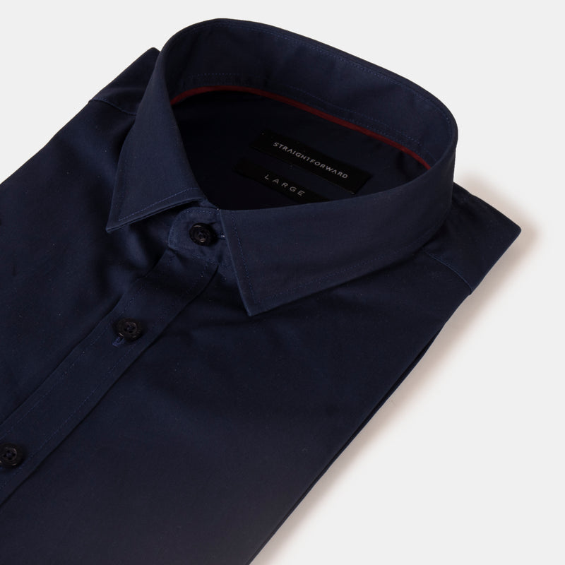 Everyday Cotton Blend Shirt (Dark Blue)