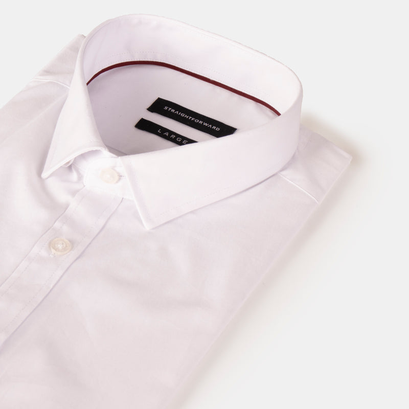 Everyday Cotton Blend Shirt (White)