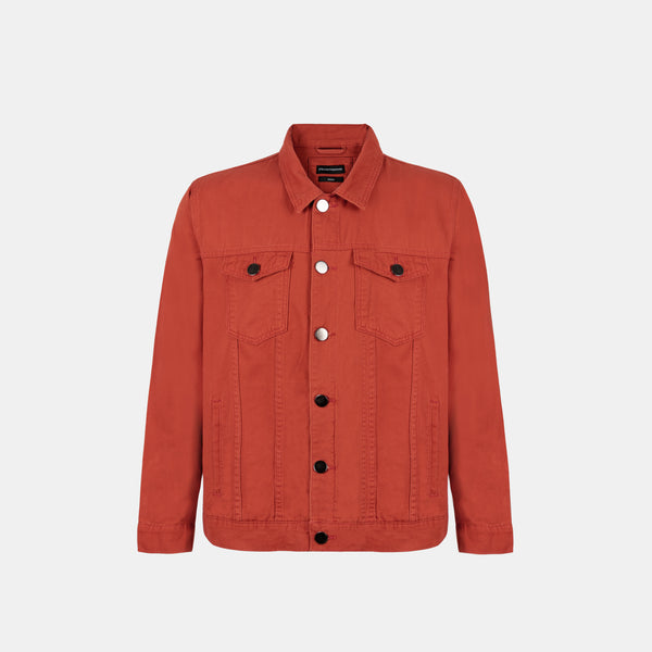 Everyday Cotton Twill Jacket (Rust)