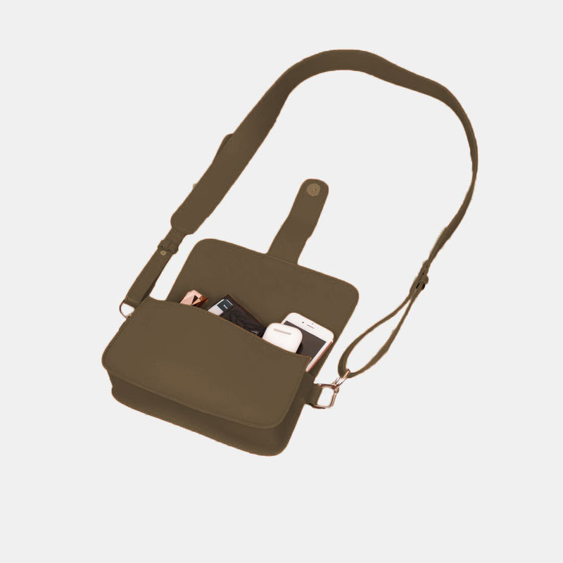 D. V. L. Flap Crossbody Bag (Army Green)