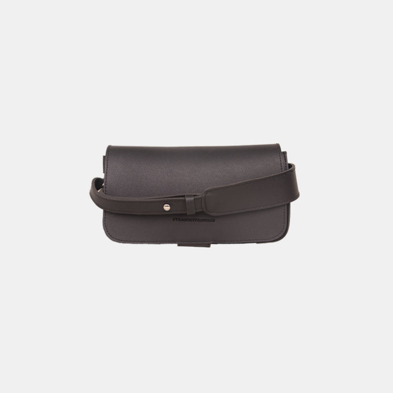 D. V. L. Flap Crossbody Bag (Black)