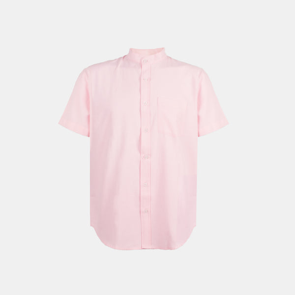 Japanese Chambray Mandarin Collar (Pink)